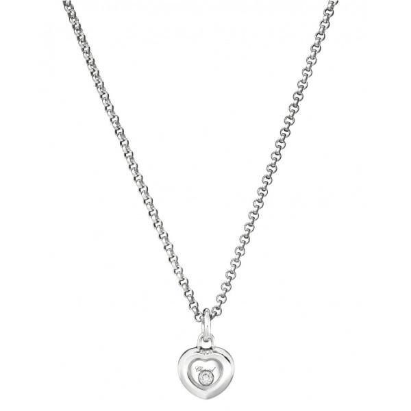 Подвеска Chopard Happy Diamonds Miss Happy белое золото, бриллиант (799006-1001)