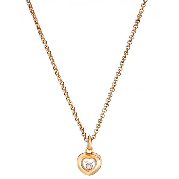 Подвеска Chopard Happy Diamonds Miss Happy розовое золото, бриллиант (799006-5001)