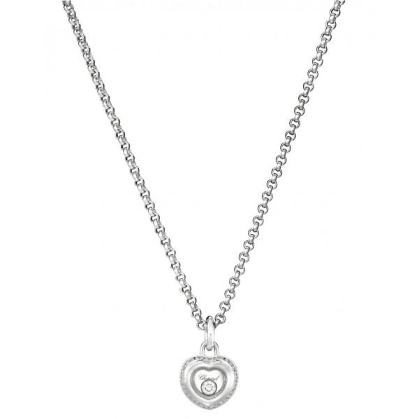Подвеска Chopard Happy Diamonds Miss Happy белое золото, бриллианты (799008-1001)