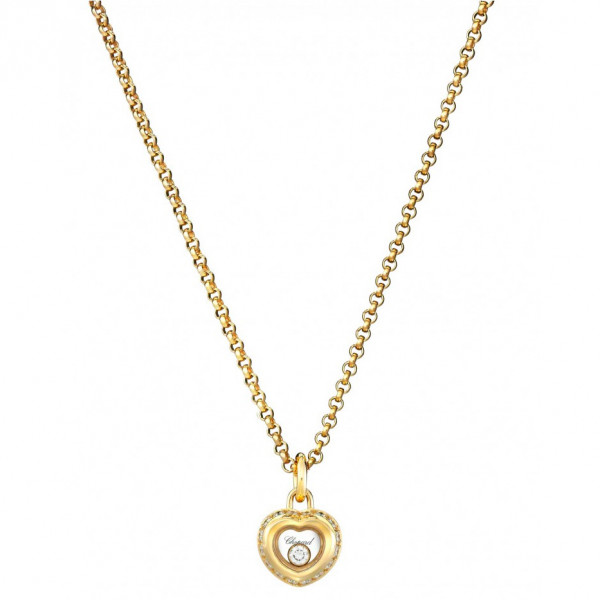 Подвеска Chopard Happy Diamonds Miss Happy желтое золото, бриллианты (799008-0001)