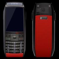 TAG Heuer Meridiist black steel red leather