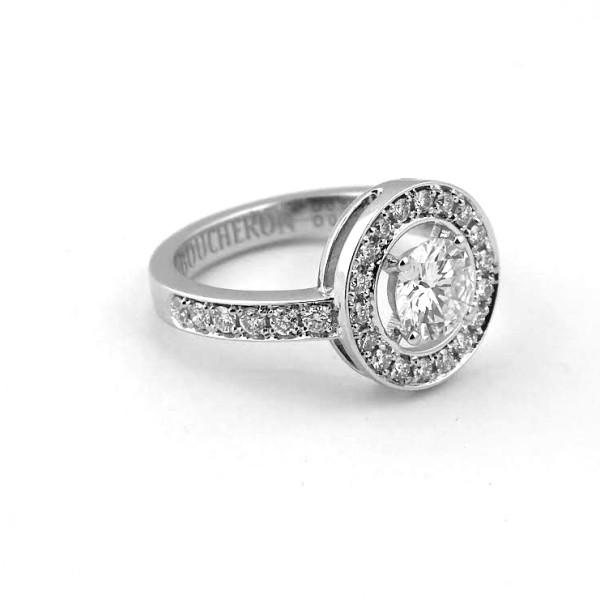 Кольцо Boucheron Ava белое золото 750, бриллианты