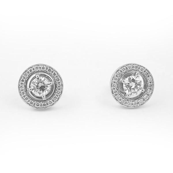 Серьги Boucheron Ava белое золото 750, бриллианты