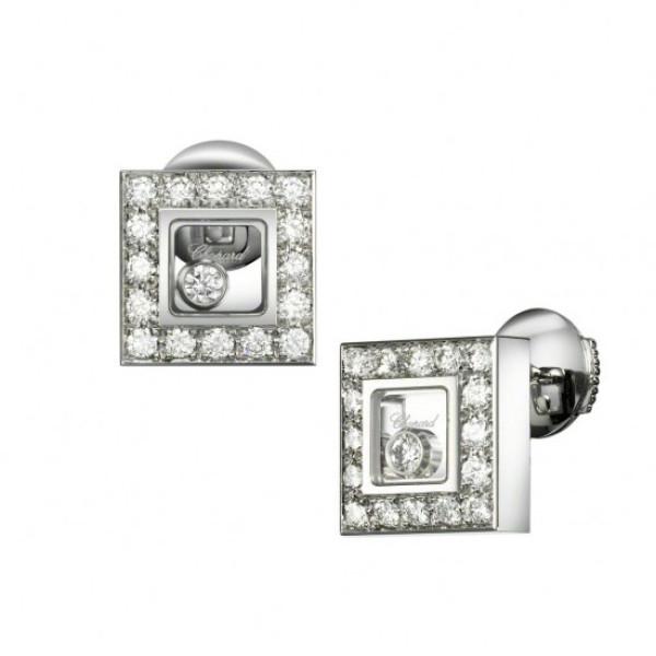 Серьги Chopard Happy Diamonds Icons белое золото, бриллианты (832896-1001)