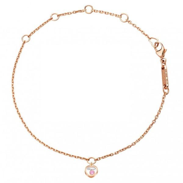 Браслет Chopard Happy Diamonds Icons розовое золото, сапфир (859081-5002)