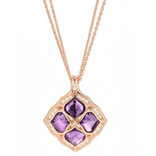 Подвеска Chopard Imperiale розовое золото, бриллианты, аметисты (799564-5001)