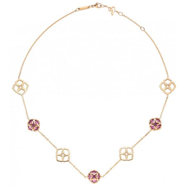 Колье Chopard Imperiale розовое золото, аметисты (819392-5001)