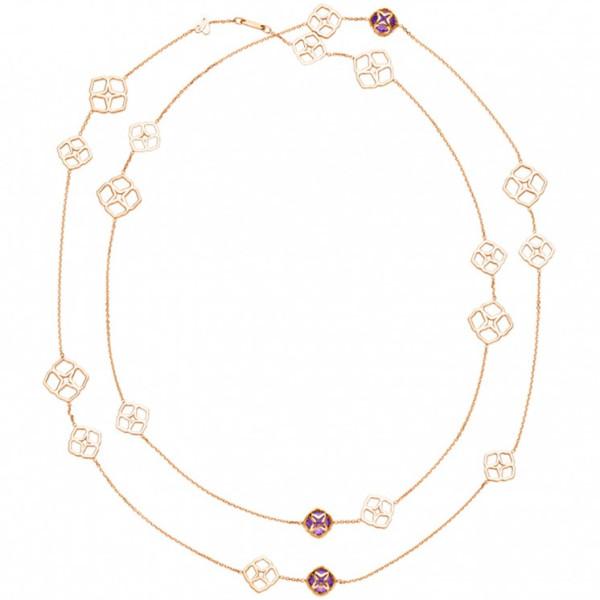 Колье Chopard Imperiale розовое золото, аметисты (819392-5002)