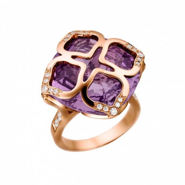 Кольцо Chopard Imperiale розовое золото, аметист, бриллианты (829563-5010)