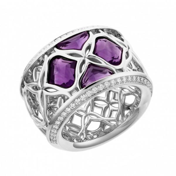 Кольцо Chopard Imperiale белое золото, аметист, бриллианты (829564-1010)