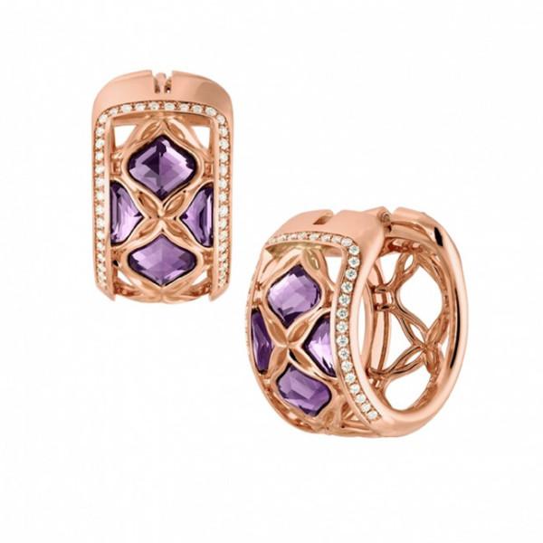 Серьги Chopard Imperiale розовое золото, аметист, бриллианты (839564-5001)