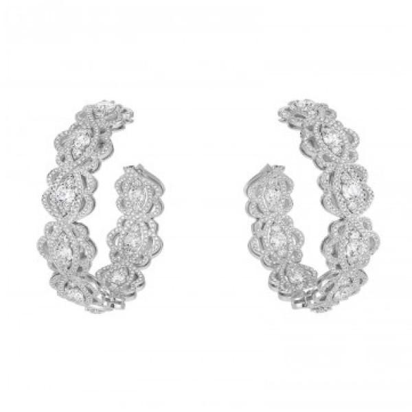Серьги Chopard Green Carpet Collection белое золото, бриллианты (839331-1002)