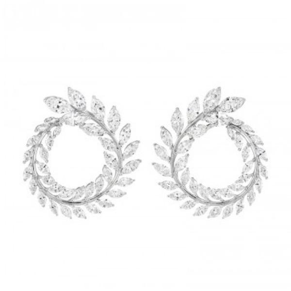 Серьги Chopard Green Carpet Collection белое золото, бриллианты (849537-1001)