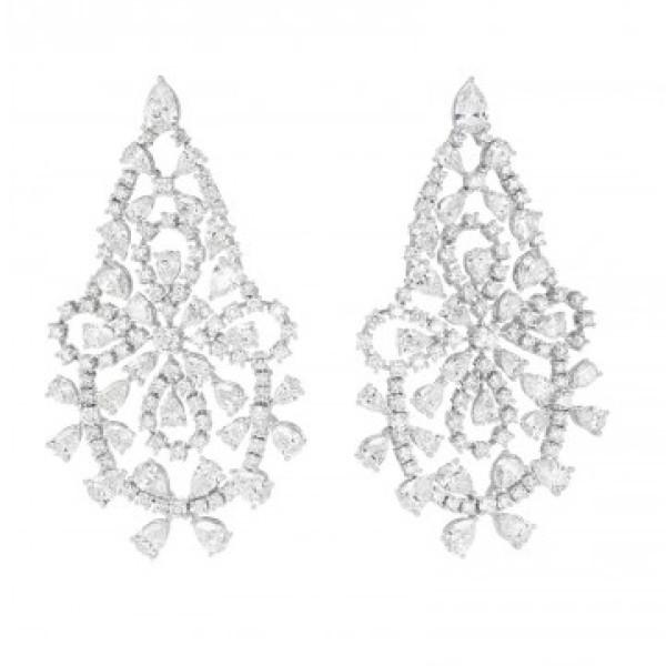 Серьги Chopard Green Carpet Collection белое золото, бриллианты (849538-1001)
