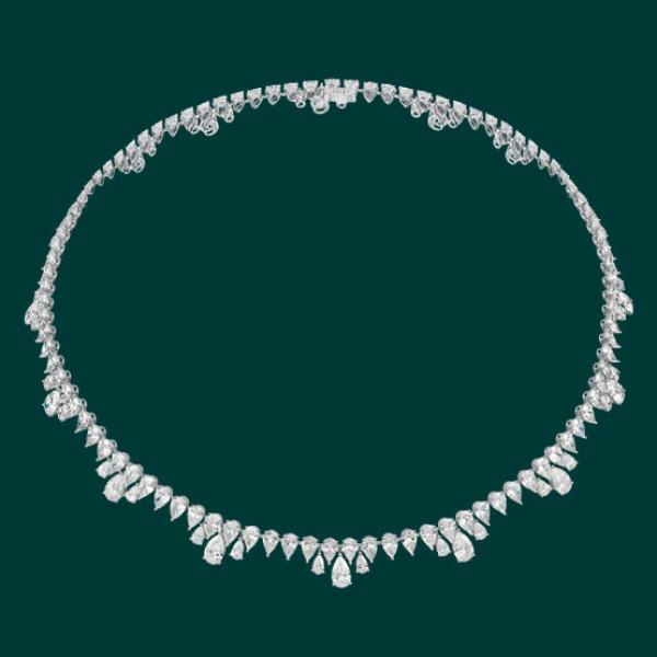 Колье Chopard Green Carpet Collection белое золото, бриллианты
