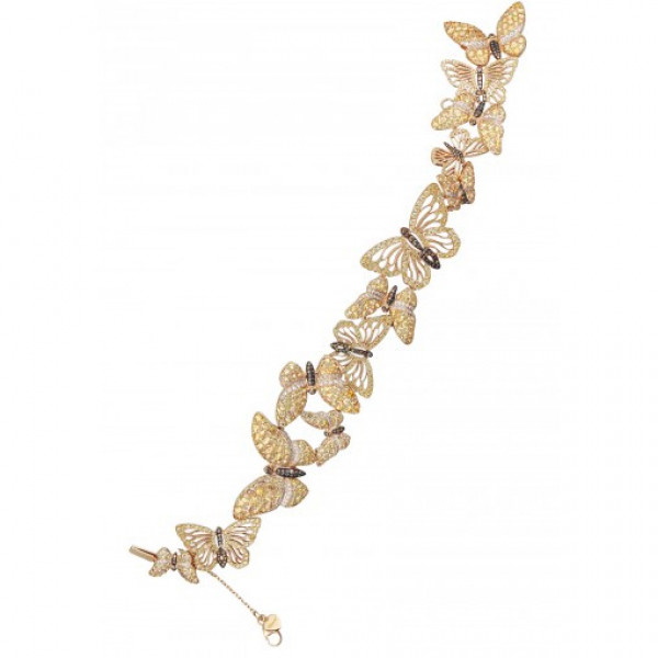 Браслет Chopard Animal World Collection розовое золото, драг. камни, бриллианты (857499-5001)