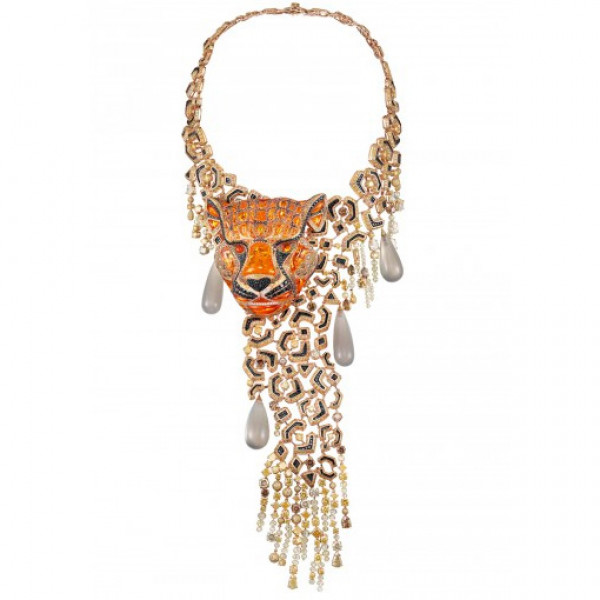 Колье Chopard Animal World Collection белое золото, драг. камни, бриллианты (817736-9001)
