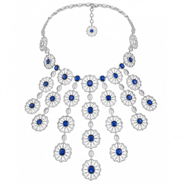 Набор Chopard Red Carpet Collection белое золото, сапфиры, бриллианты (939292-1001)