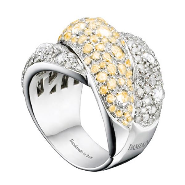 Кольцо Damiani Gomitolo, белое золото 750, бриллианты