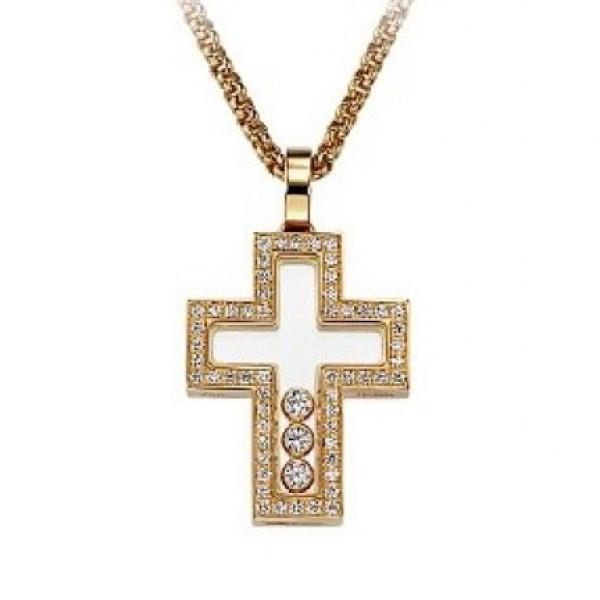 Подвеска Chopard Happy Diamonds, желтое золото 750, бриллианты
