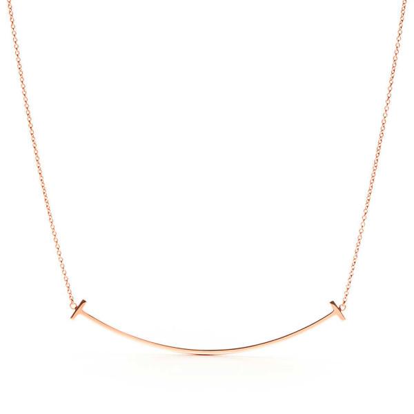 Подвеска Tiffany T Smile, розовое золото (33637152)