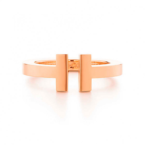 Кольцо Tiffany T Square, розовое золото (33285353)