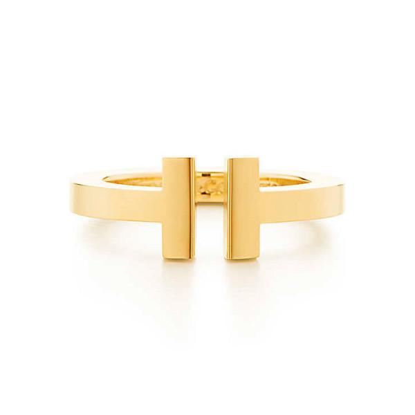 Кольцо Tiffany T Square, желтое золото (33279507)