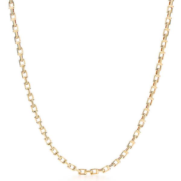 Ожерелье Tiffany T Chain, желтое золото (33279043)