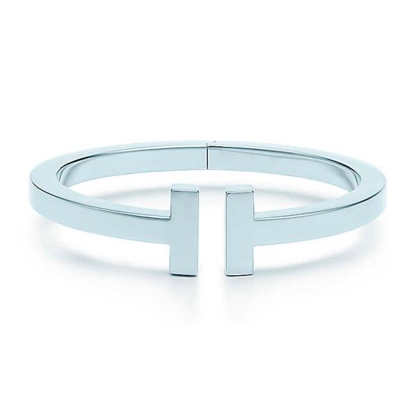 Браслет Tiffany T Square, белое золото (33263414)