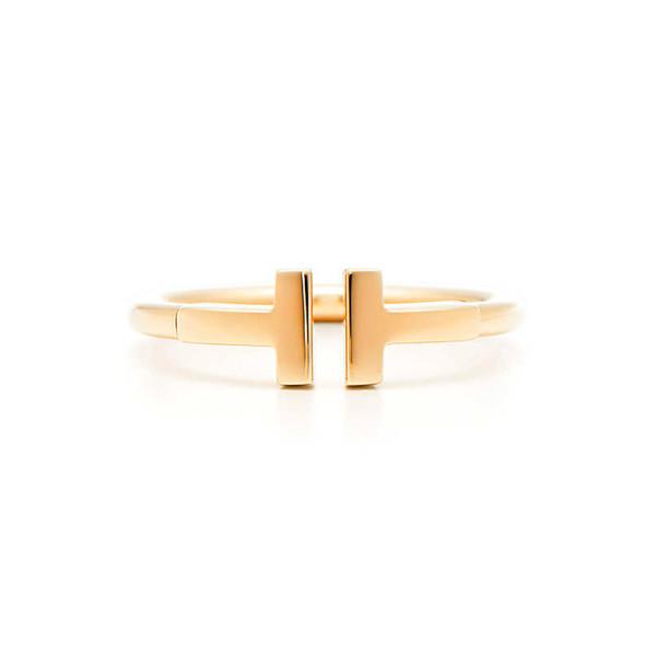 Кольцо Tiffany T Wire, желтое золото (33283458)