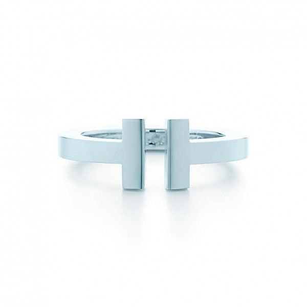 Кольцо Tiffany T Square, белое золото (33264178)