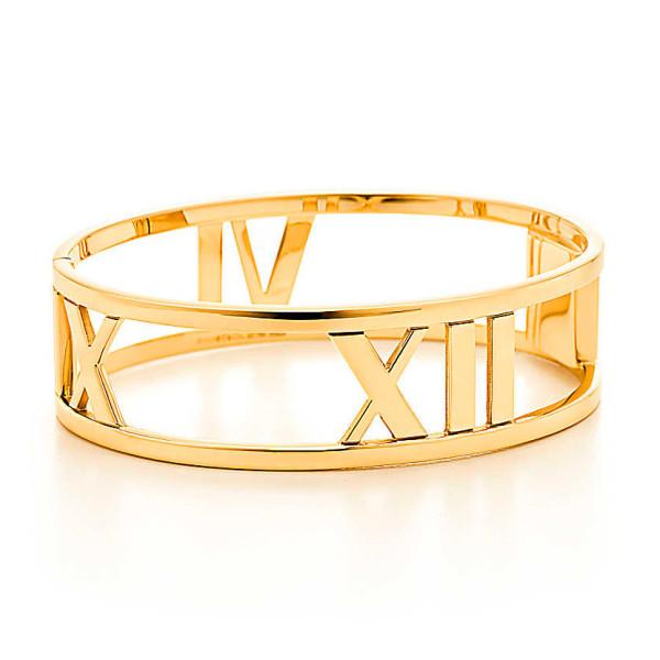 Шарнирный браслет Tiffany & Co Atlas, желтое золото (30419278)