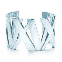 Широкий браслет-кафф Tiffany & Co Atlas, серебро (32995993)