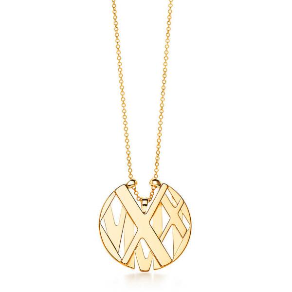 Круглая подвеска Tiffany & Co Atlas, желтое золото (32995217)