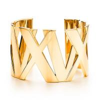 Широкий браслет-кафф Tiffany & Co Atlas, желтое золото (32995225)