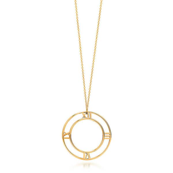 Круглая подвеска Tiffany & Co Atlas, желтое золото (32948545)