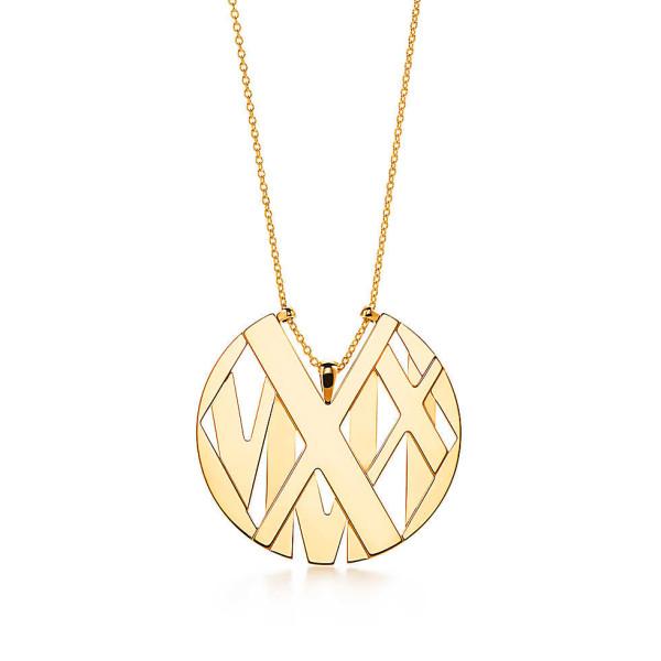 Круглая подвеска Tiffany & Co Atlas, желтое золото (32995209)