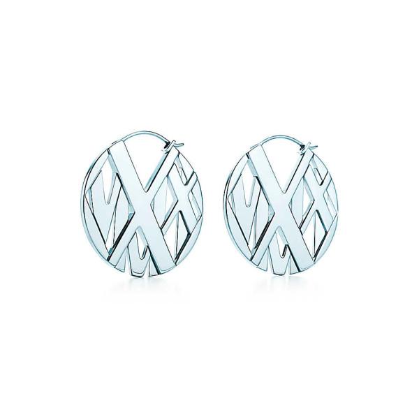 Серьги-кольца Tiffany & Co Atlas, серебро (32995977)
