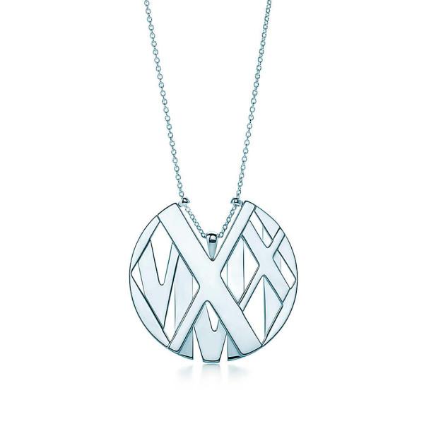 Круглая подвеска Tiffany & Co Atlas, серебро (32995969)