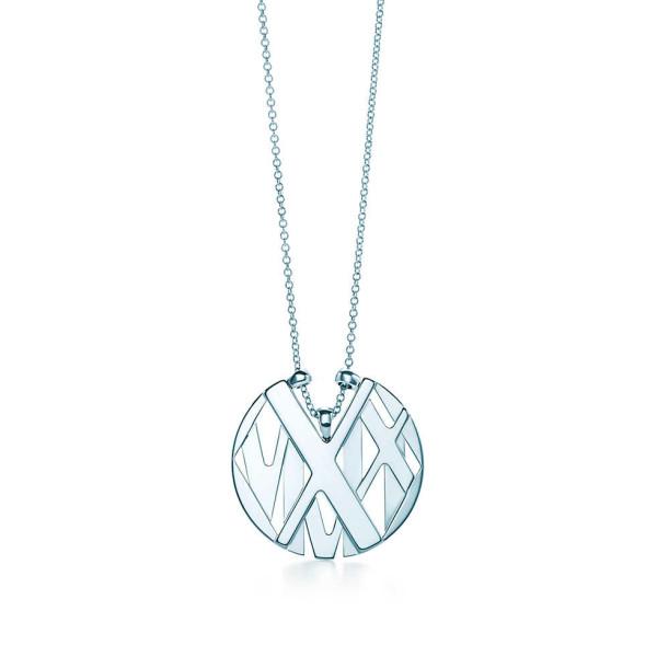 Круглая подвеска Tiffany & Co Atlas, серебро (32995985)