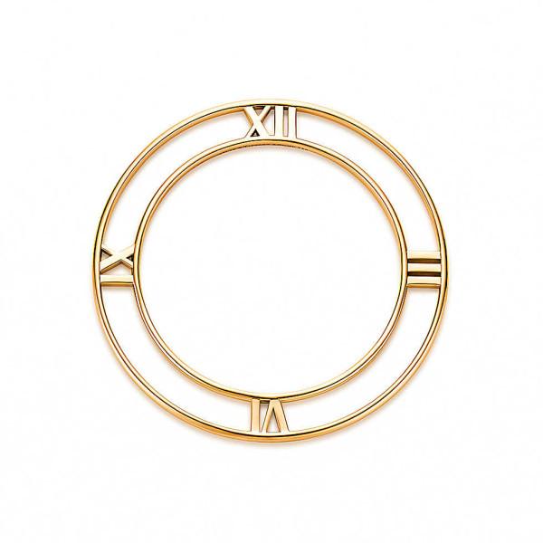 Круглый браслет Tiffany & Co Atlas, желтое золото (32948502)