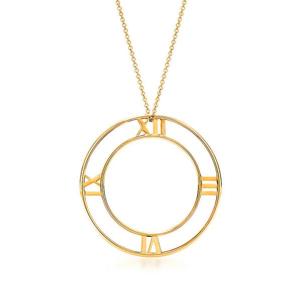Круглая подвеска Tiffany & Co Atlas, желтое золото (32948553)