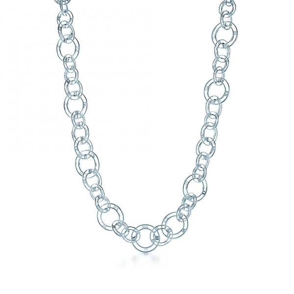 Звеньевое ожерелье Tiffany & Co Atlas, серебро (32995055)