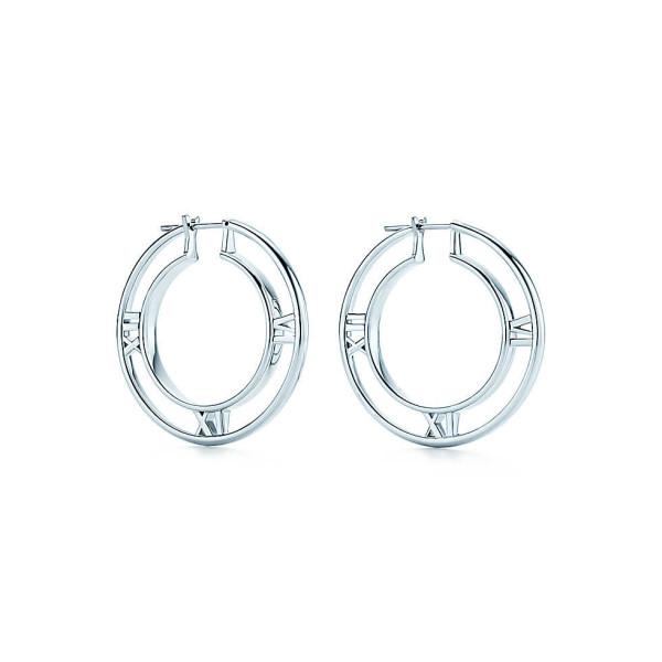 Серьги-кольца Tiffany & Co Atlas, серебро (32995071)