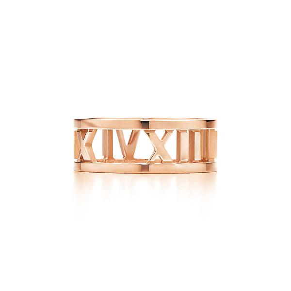 Открытое кольцоTiffany & Co Atlas, розовое золото (32269214)