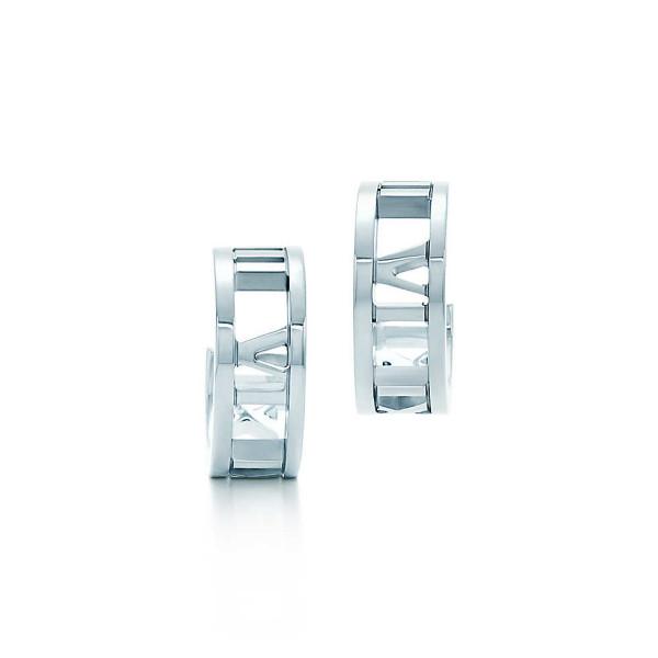 Серьги-кольца Tiffany & Co Atlas, серебро (30419324)