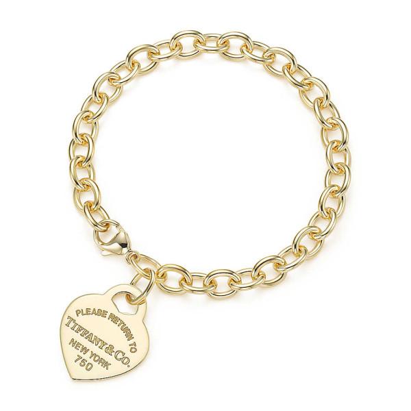 Браслет с жетоном Return to Tiffany, желтое золото (27567576)
