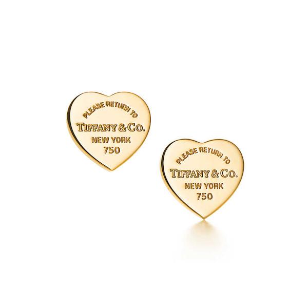 Серьги-сердечки Return to Tiffany, желтое золото (23900351)