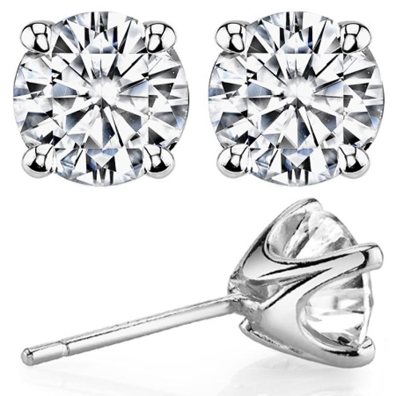 Серьги-пусеты Tiffany & Co, белое золото 750, бриллианты