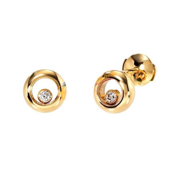 Серьги Chopard желтое золото, бриллианты